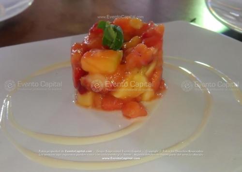 menu entrada Timbal de Frutas