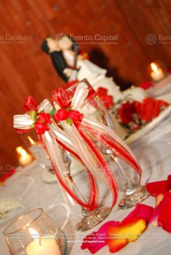 decoracion pala sierra copas rojo escarlata
