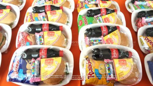 Refrigerios empacados Hamburguesa Paquete papas Gaseosa Golosina (1)