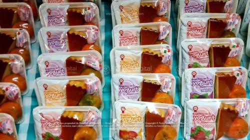 Refrigerios empacados Torta Yogurth Fruta Golosina (6)