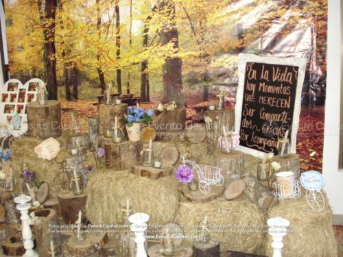 tematica vintage stand troncos velas heno letras nombre (25)