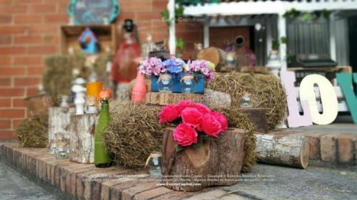 tematica vintage stand troncos velas heno letras nombre (29)