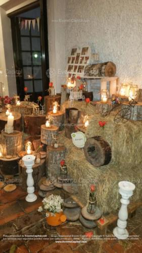 tematica vintage stand troncos velas heno letras nombre (32)