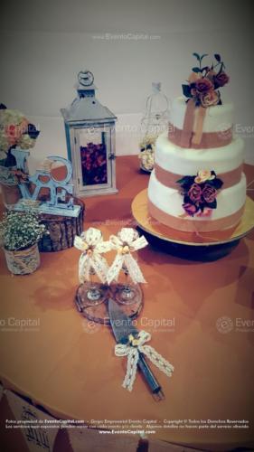 decoracion pala sierra copas boda vintage